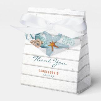 Caja náutica del favor de la playa que se casa el caja para regalo de boda
