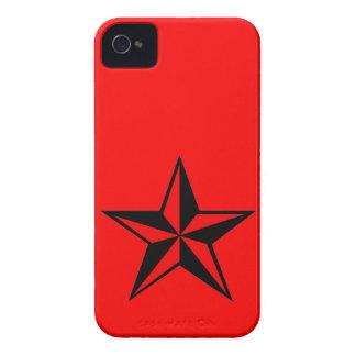 Caja náutica roja y negra del iPhone 4 4S de la es Case-Mate iPhone 4 Protector