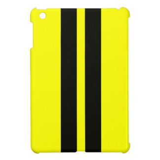 Caja negra amarilla de Ipad de las rayas que compi