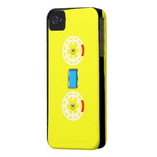 Caja negra amarilla de Iphone 4 4S de la cinta de iPhone 4 Case-Mate Coberturas