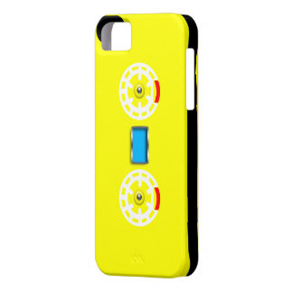 Caja negra amarilla de Iphone 5 de la cinta de cas iPhone 5 Funda
