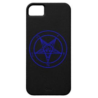 Caja negra/azul marino del teléfono de Baphomet Funda Para iPhone SE/5/5s