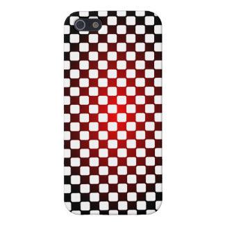 Caja negra, blanca, roja con diseño del inspector iPhone 5 fundas