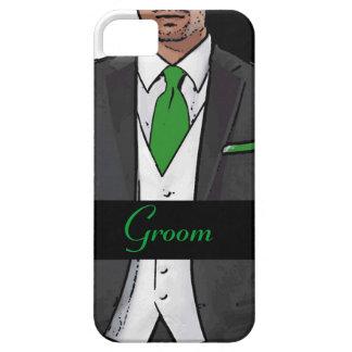 Caja negra blanca verde del iphone 5 del novio del iPhone 5 Case-Mate carcasa