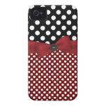 Caja negra, blanca, y roja del iPhone 4 del lunar Case-Mate iPhone 4 Coberturas