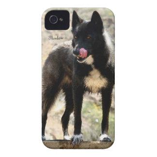 Caja negra de Barely There del iPhone 4 de la casa iPhone 4 Case-Mate Coberturas