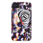 Caja negra de Blackberry de la mariposa del tigre iPhone 4 Case-Mate Fundas