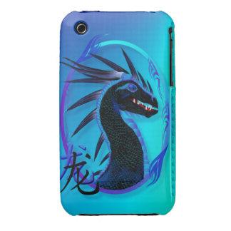 Caja negra de cuernos de la casamata del dragón y iPhone 3 carcasas