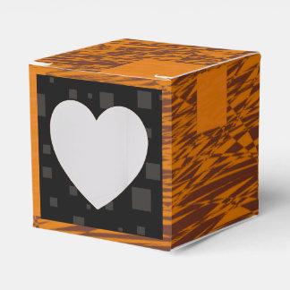 Caja negra de Halloween del extracto alerta Caja Para Regalos De Fiestas