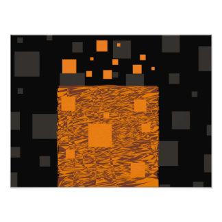 Caja negra de Halloween del extracto alerta Fotografías