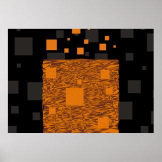 Caja negra de Halloween del extracto alerta Póster