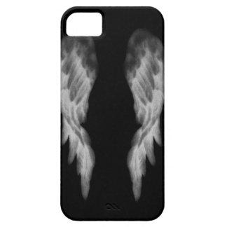 Caja negra de Iphone del ángel iPhone 5 Protectores