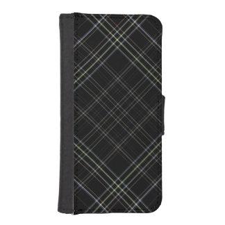 Caja negra de la cartera del iPhone 5 de la tela Funda Billetera Para Teléfono