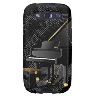 Caja negra de la galaxia S3 de Samsung del piano Galaxy S3 Carcasa