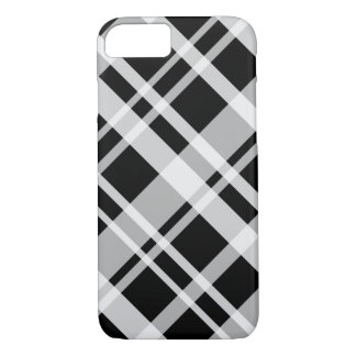 Caja negra de la tela escocesa funda iPhone 7