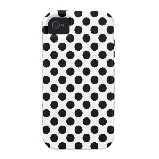 Caja negra de los lunares iPhone 4 carcasa