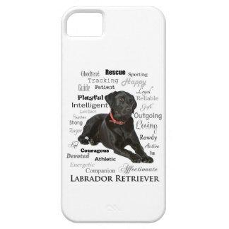 Caja negra de Smartphone de los rasgos del iPhone 5 Case-Mate Coberturas