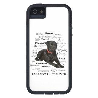 Caja negra de Smartphone de los rasgos del iPhone 5 Fundas