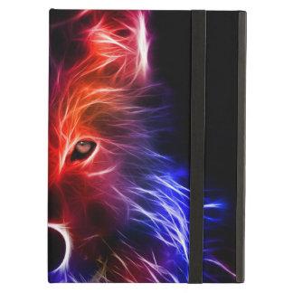 Caja negra del aire del iPad con el lobo brillante