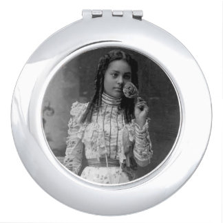 Caja negra del espejo del acuerdo de la belleza espejo de maquillaje