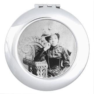 Caja negra del espejo del acuerdo de la belleza espejos compactos