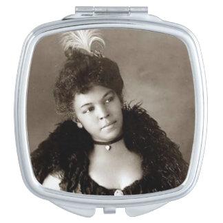 Caja negra del espejo del acuerdo de la belleza espejos maquillaje