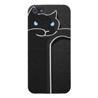 Caja negra del gato del zombi iPhone 5 funda