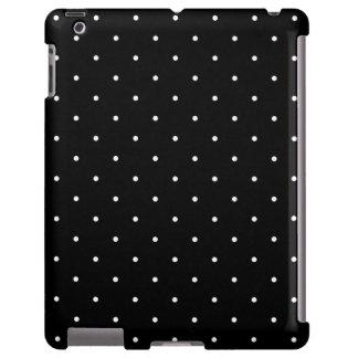 Caja negra del iPad 2/3/4 del lunar del estilo de Funda Para iPad