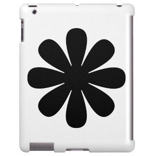 Caja negra del iPad de la margarita Funda Para iPad