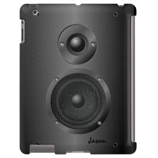 Caja negra del iPad del altavoz del sonido de la