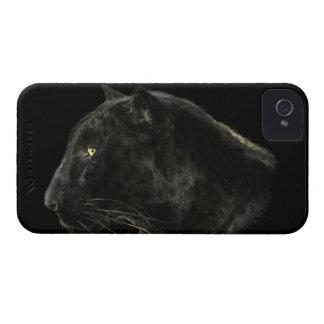 Caja negra del iPhone 4 de la fauna del gato iPhone 4 Case-Mate Cárcasa