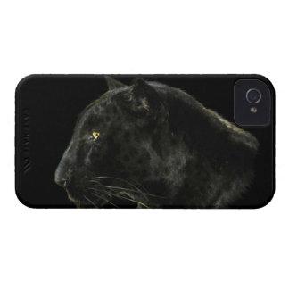 Caja negra del iPhone 4 de la fauna del gato iPhone 4 Case-Mate Cárcasas