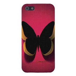 Caja negra del iPhone 4 de la mariposa de Carpe Di iPhone 5 Protector