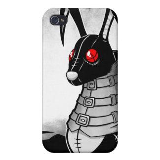 Caja negra del iPhone 4 del conejo iPhone 4/4S Fundas
