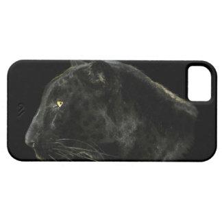 Caja negra del iPhone 5 de la fauna del gato iPhone 5 Funda