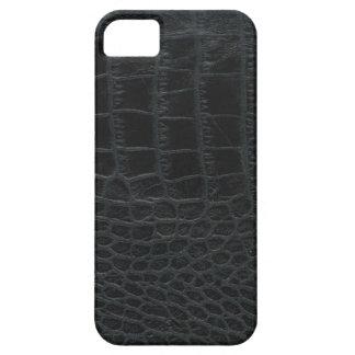 Caja negra del iPhone 5 de la piel del cocodrilo iPhone 5 Case-Mate Funda