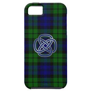 Caja negra del iPhone 5 de la tela escocesa de iPhone 5 Funda