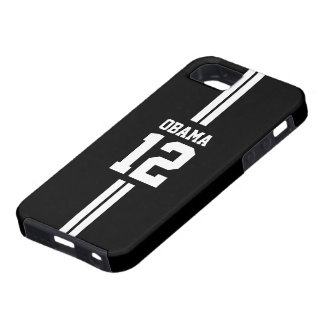 Caja negra del iPhone 5 de Obama del jugador de iPhone 5 Fundas