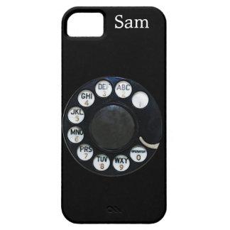 Caja negra del iPhone 5 del dial rotatorio iPhone 5 Case-Mate Protectores