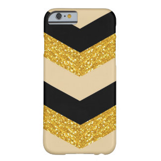 Caja negra del iPhone 6 de Chevron del brillo del Funda De iPhone 6 Barely There