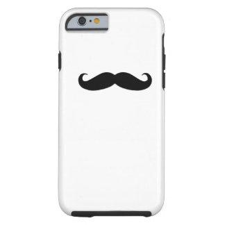 Caja negra del iPhone 6 del bigote Funda De iPhone 6 Tough