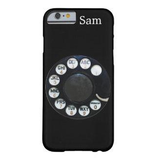 Caja negra del iPhone 6 del dial rotatorio Funda Para iPhone 6 Barely There