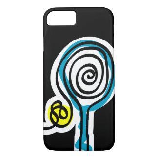 Caja negra del iPhone 7 para el jugador de tenis Funda iPhone 7