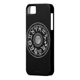 Caja negra del iPhone de la luna del horóscopo iPhone 5 Cárcasas