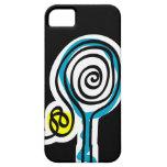 Caja negra del iPhone para el jugador de tenis iPhone 5 Case-Mate Cárcasa