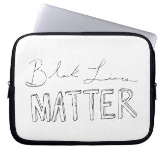 Caja negra del ordenador portátil de la materia de fundas computadoras