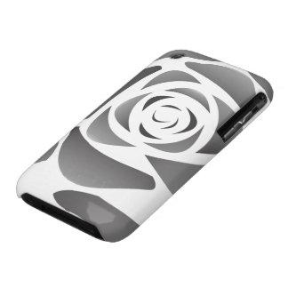 Caja negra del rosa iPhone 3 Case-Mate cárcasas