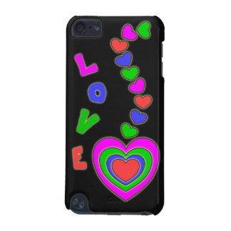 Caja negra del tacto de iPod de los corazones del