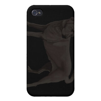Caja negra del teléfono 4 del labrador retriever i iPhone 4/4S fundas