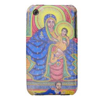 Caja negra etíope del iPhone 4 de Madonna Jesús iPhone 3 Carcasa